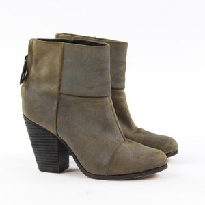 Rag & Bone Newbury Suede Zip Ankle Booties